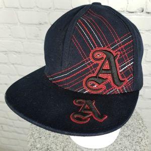 PITBULL   monogram A fitted flat brim cap